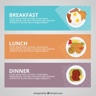 Bannières de repas
