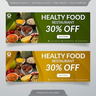 Bannières de restaurant de nourriture saine