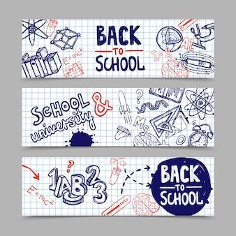 Bannières retour à l'école