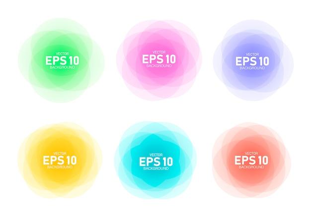 Bannières rondes colorées.