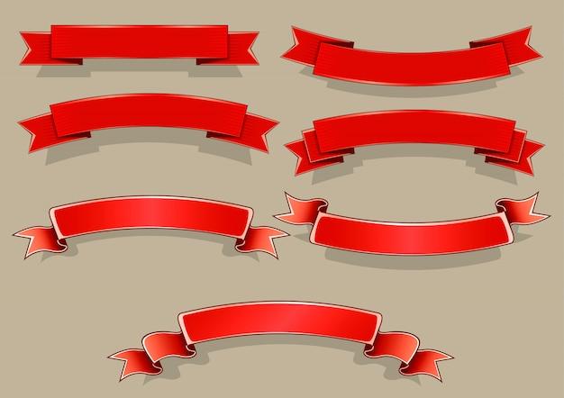 Bannières rouges