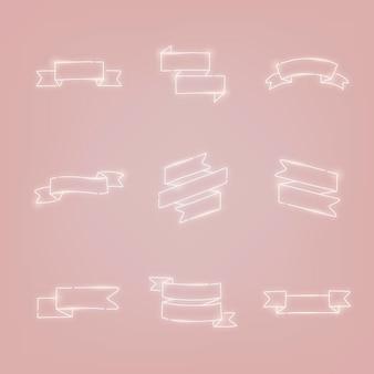 Bannières de ruban de néon