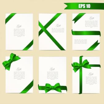 Bannières avec des rubans verts