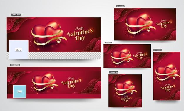 Bannières de la saint-valentin,