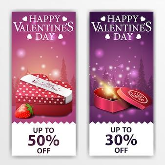 Bannières saint valentin