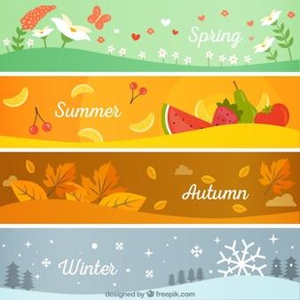 Bannières saisonnières emballent