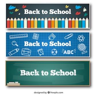 Bannières scolaires mignon fixés