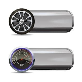 Bannières de service de pneu