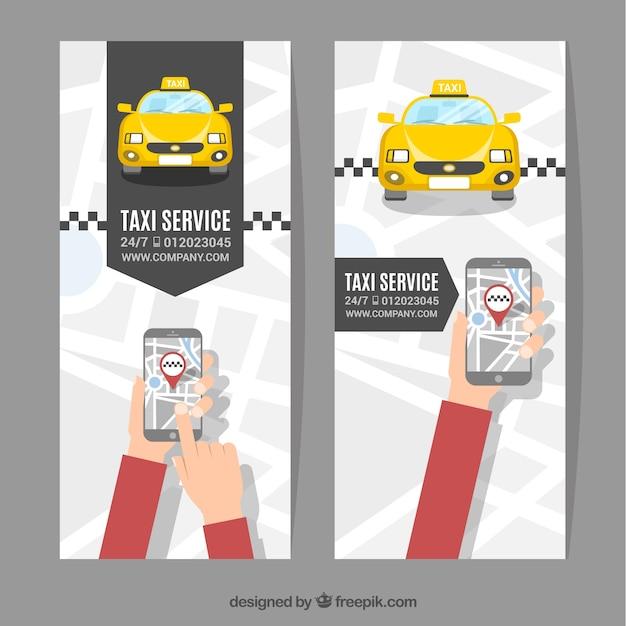 Bannières de service de taxi