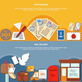 Bannières de services postaux