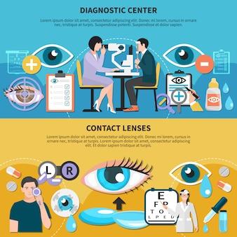 Bannières de soins oculaires oculaires