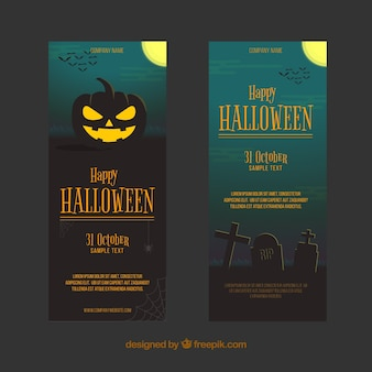 Bannières sombres de halloween