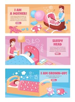 Bannières de sommeil de bébé