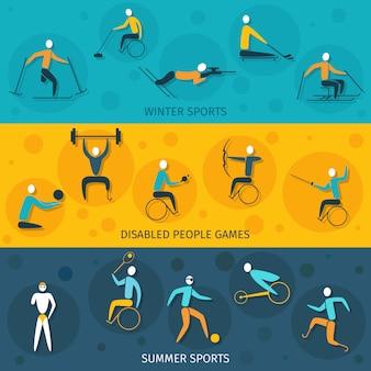 Bannières de sport pour handicapés