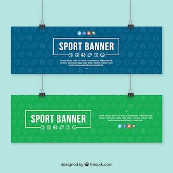 Bannières sportives élégants
