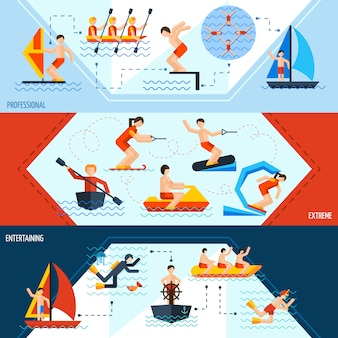 Bannières de sports nautiques
