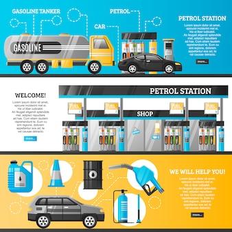 Bannières de stations d'essence
