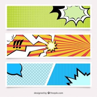Bannières en style bande dessinée