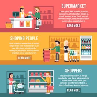 Bannières de supermarché