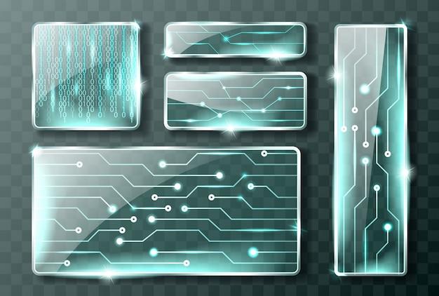 Bannières de technologie de verre