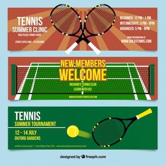 Bannières de tennis mis