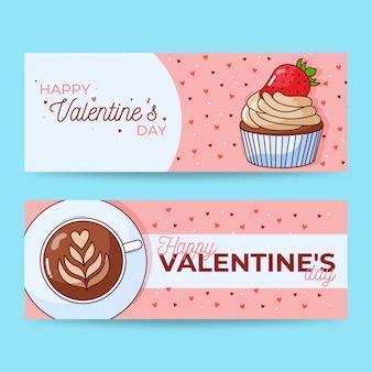 Bannières avec thème saint valentin