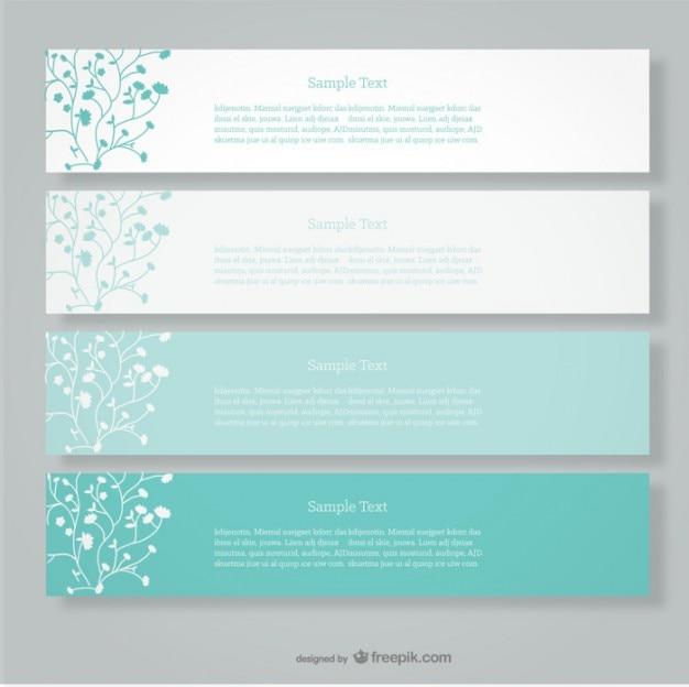 Bannières vecteur floral design minimaliste