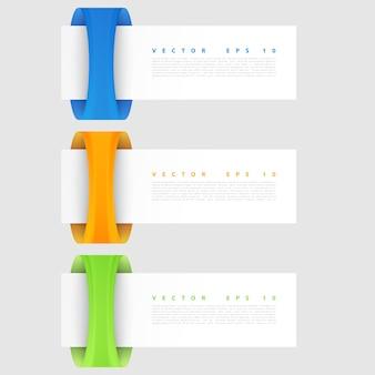 Les bannières vectorielles sont définies. bannière spirale moderne.