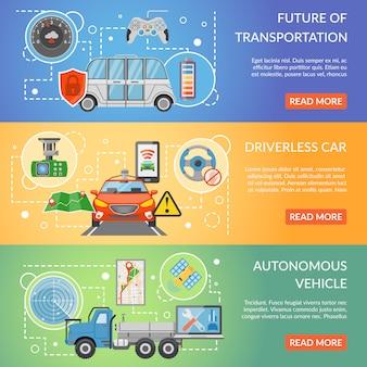 Bannières de véhicules autonomes sans conducteur