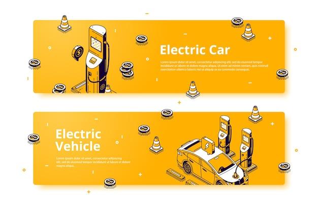 Bannières de véhicules électriques.