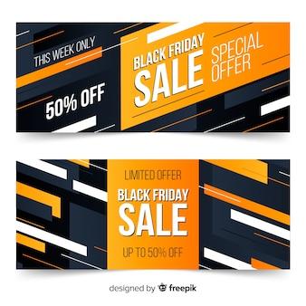Bannières de vendredi noir dégradé coloré