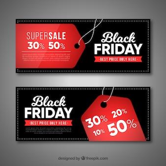 Bannières de vendredi noir