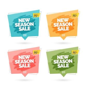 Bannières de vente colorées modernes