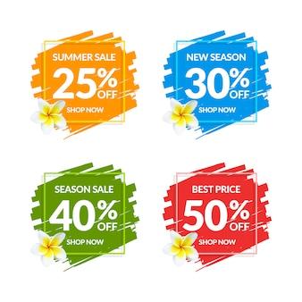 Bannières de vente colorées