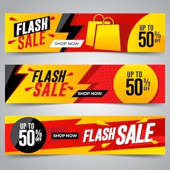 Bannières de vente flash