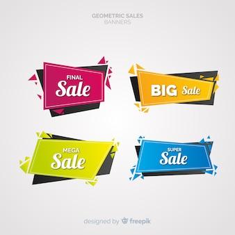 Bannières de vente géométriques