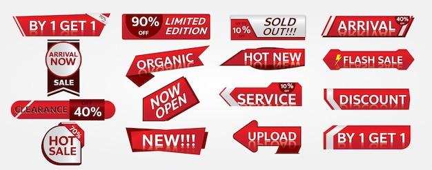 Bannières de vente et jeu de balises de promotion