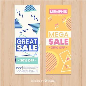 Bannières de vente de memphis