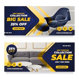Bannières de vente de meubles