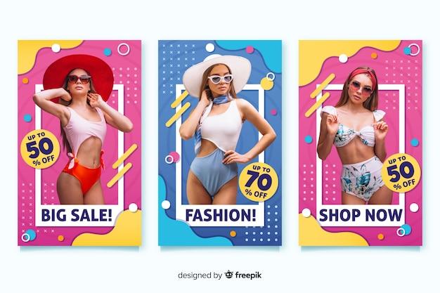 Bannières de vente de mode