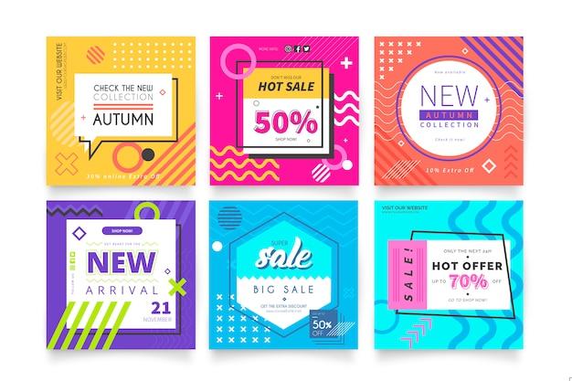 Bannières de vente modernes