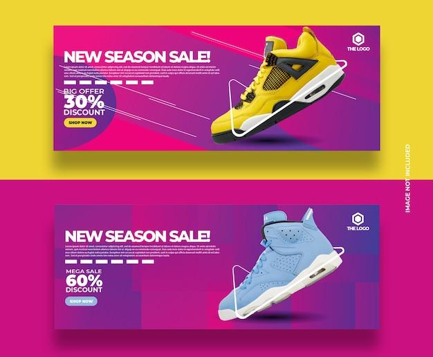 Bannières de vente nouvelle saison