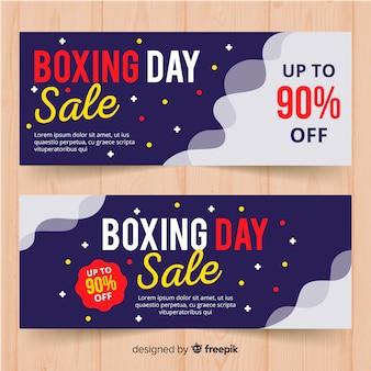Bannières de vente plat boxing day