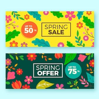 Bannières de vente de printemps