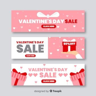 Bannières de vente saint valentin