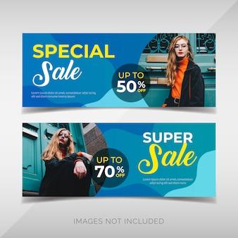 Bannières de vente spéciales