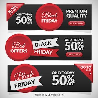 Bannières de ventes dans le black friday