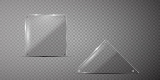 Bannières de verre de vecteur