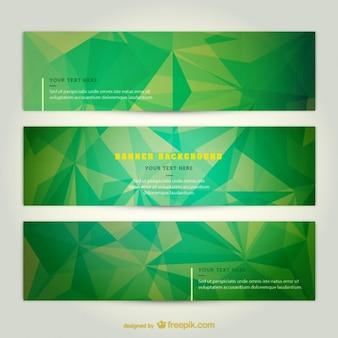 Bannières vertes techno