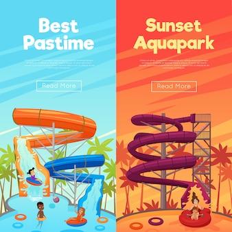 Bannières verticales aquapark